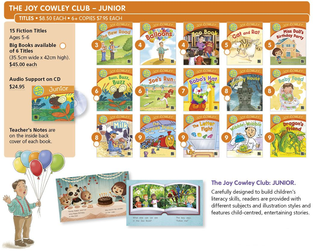JCClubJunior The Joy Cowley Club - Junior  |  Literacy Resources for Primary and Secondary Education | Lioncrest Education