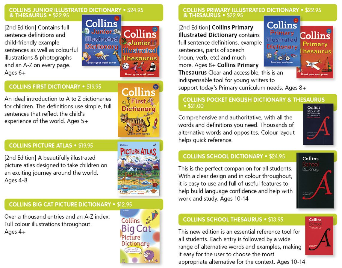 Collins dictionaries atlas