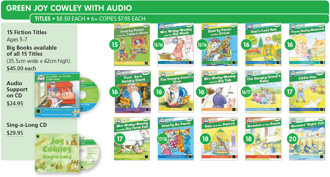joy cowley collection with audio green