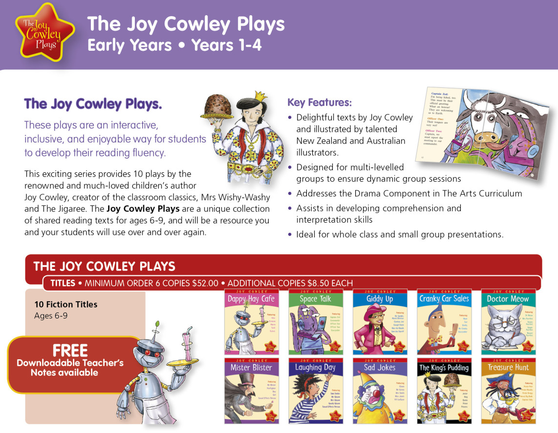 Joy Cowley plays