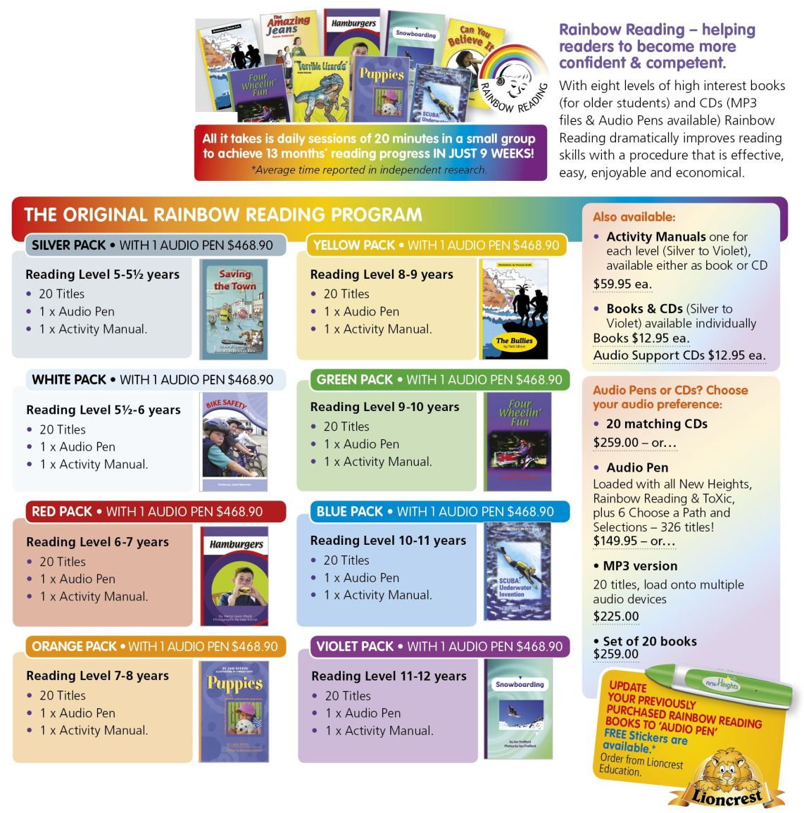 RainbowReading Sets 7 9 20